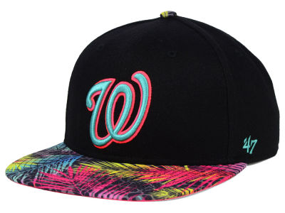 Washington Nationals '47 MLB Black Flagler '47 Snapback Cap