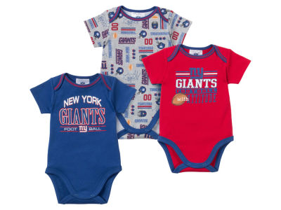 New York Giants NFL Newborn 3pc Bodysuit Set