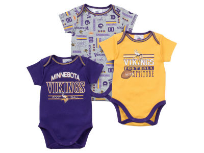 Minnesota Vikings NFL Newborn 3pc Bodysuit Set