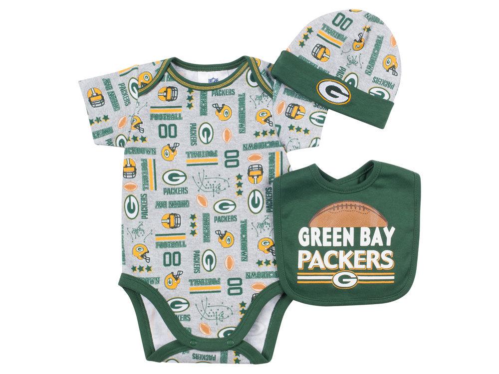 Green Bay Packers Gerber NFL Newborn 3 Piece Set Bodysuit 5aad63bc5