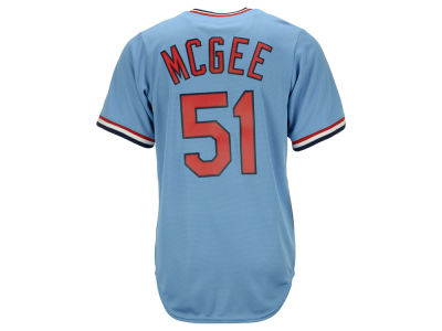 St. Louis Cardinals Willie McGee Majestic MLB Men's Cooperstown Player Replica CB Jersey
