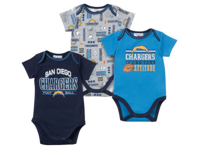 San Diego Chargers NFL Newborn 3pc Bodysuit Set