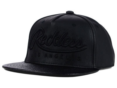 Young And Reckless Big R Script Leather Snapback Hat