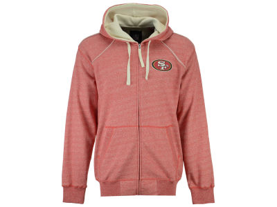 San Francisco 49ers NFL Men's Victory Mock Twist French Terry Full Zip Jacket