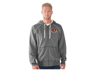 Cincinnati Bengals GIII NFL Men's Victory Mock Twist French Terry Full Zip Jacket