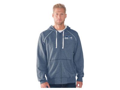 Seattle Seahawks NFL Men's Victory Mock Twist French Terry Full Zip Jacket