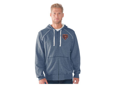 Chicago Bears NFL Men's Victory Mock Twist French Terry Full Zip Jacket