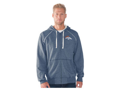 Denver Broncos GIII NFL Men's Victory Mock Twist French Terry Full Zip Jacket