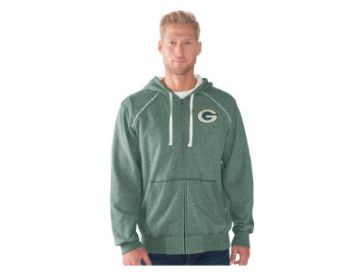 Green Bay Packers NFL Men's Victory Mock Twist French Terry Full Zip Jacket