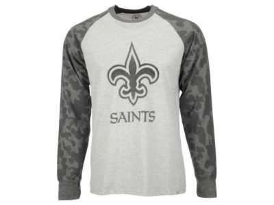 New Orleans Saints '47 NFL Men's Stealth Camo Raglen Crew Neck Sweatshirt