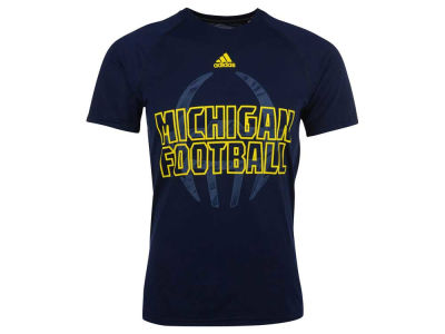 Michigan Wolverines adidas NCAA Men's Sideline Helmet Shock T-Shirt