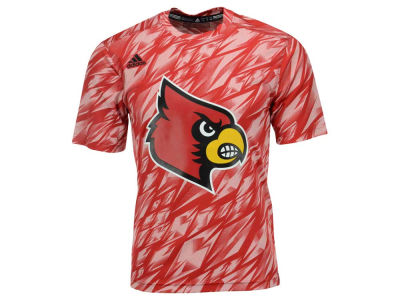 Louisville Cardinals adidas NCAA Men's Sideline Shockenergy Short Sleeve Training T-Shirt