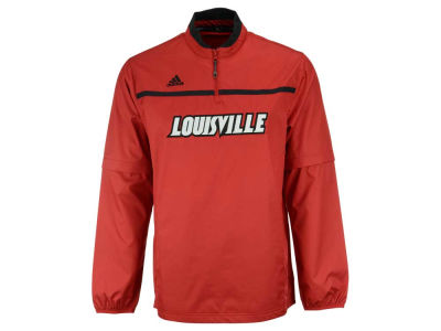 Louisville Cardinals adidas NCAA Men's Sideline Convertible 1/4 Zip Hot Jacket