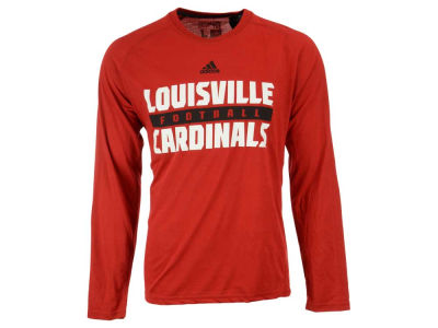 Louisville Cardinals adidas NCAA Men's Sideline Practice Football Long Sleeve T-Shirt