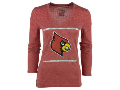 Louisville Cardinals adidas NCAA Women's Sideline Energize Long Sleeve V-neck T-Shirt