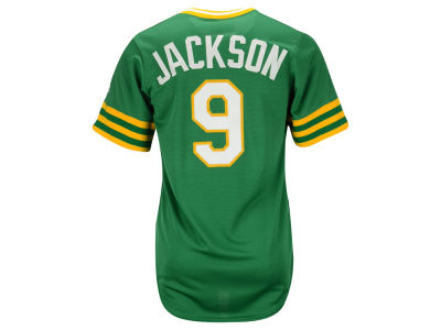 Oakland Athletics Reggie Jackson Majestic MLB Men's Cooperstown Player Replica CB Jersey