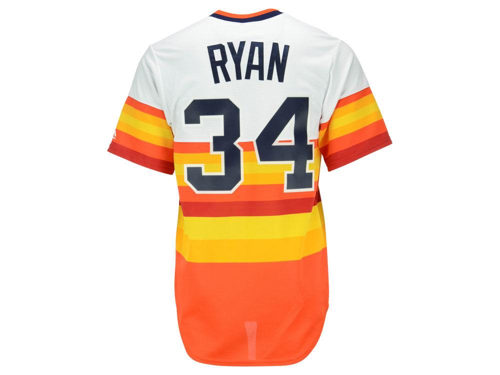 Houston Astros Nolan Ryan Majestic MLB Men s Cooperstown Player Replica CB  Jersey  151e2d954