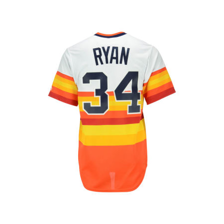 Houston Astros Nolan Ryan Majestic MLB Men's Cooperstown Player Replica CB Jersey