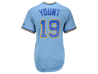 Milwaukee Brewers Robin Yount Majestic MLB Men's Cooperstown Player Replica CB Jersey