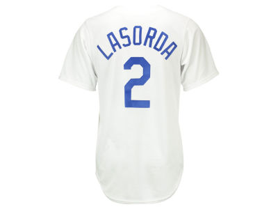 Los Angeles Dodgers Tommy Lasorda Majestic MLB Men's Cooperstown Player Replica CB Jersey
