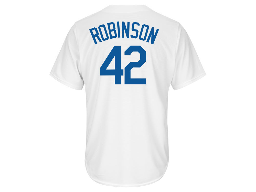 Brooklyn Dodgers Jackie Robinson Majestic MLB Men s Cooperstown Player  Replica CB Jersey  cfd9f678757