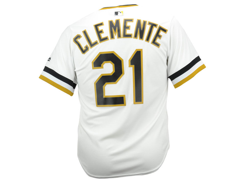 Pittsburgh Pirates Roberto Clemente Majestic MLB Men s Cooperstown Player  Replica CB Jersey  8208b14ca