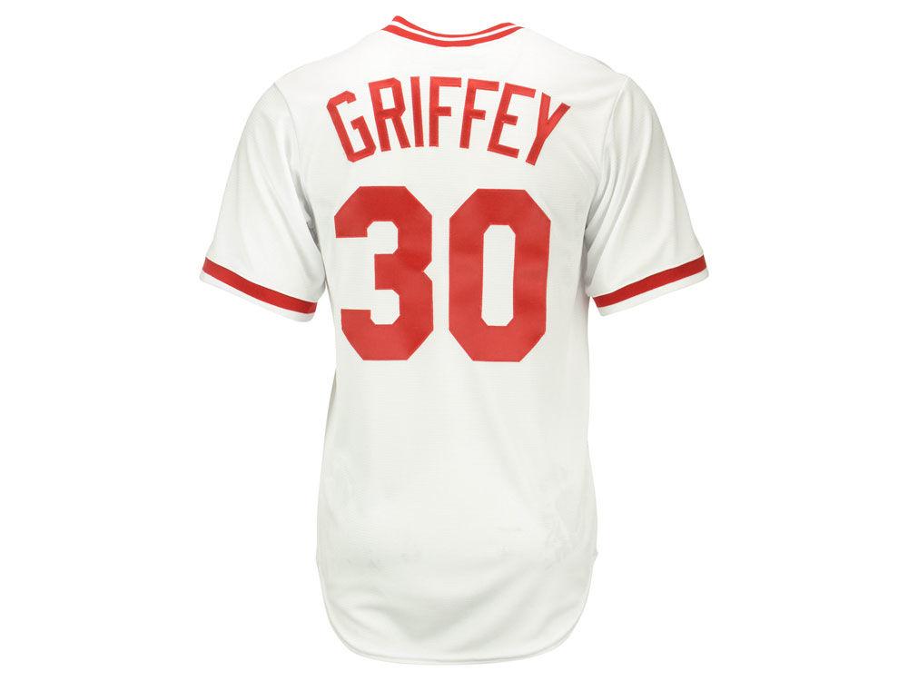 cincinnati reds ken griffey sr majestic mlb mens cooperstown player replica cb jersey