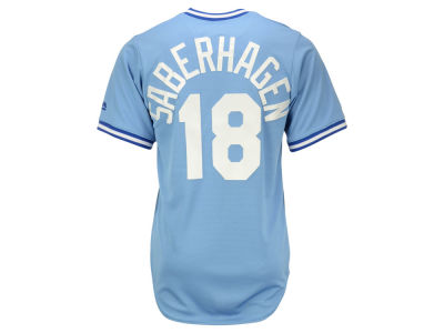 Kansas City Royals Bret Saberhagen Majestic MLB Men's Cooperstown Player Replica CB Jersey