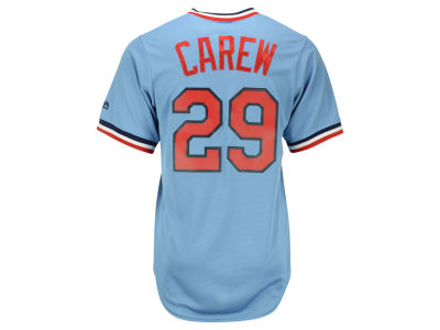 Minnesota Twins Rod Carew Majestic MLB Men's Cooperstown Player Replica CB Jersey