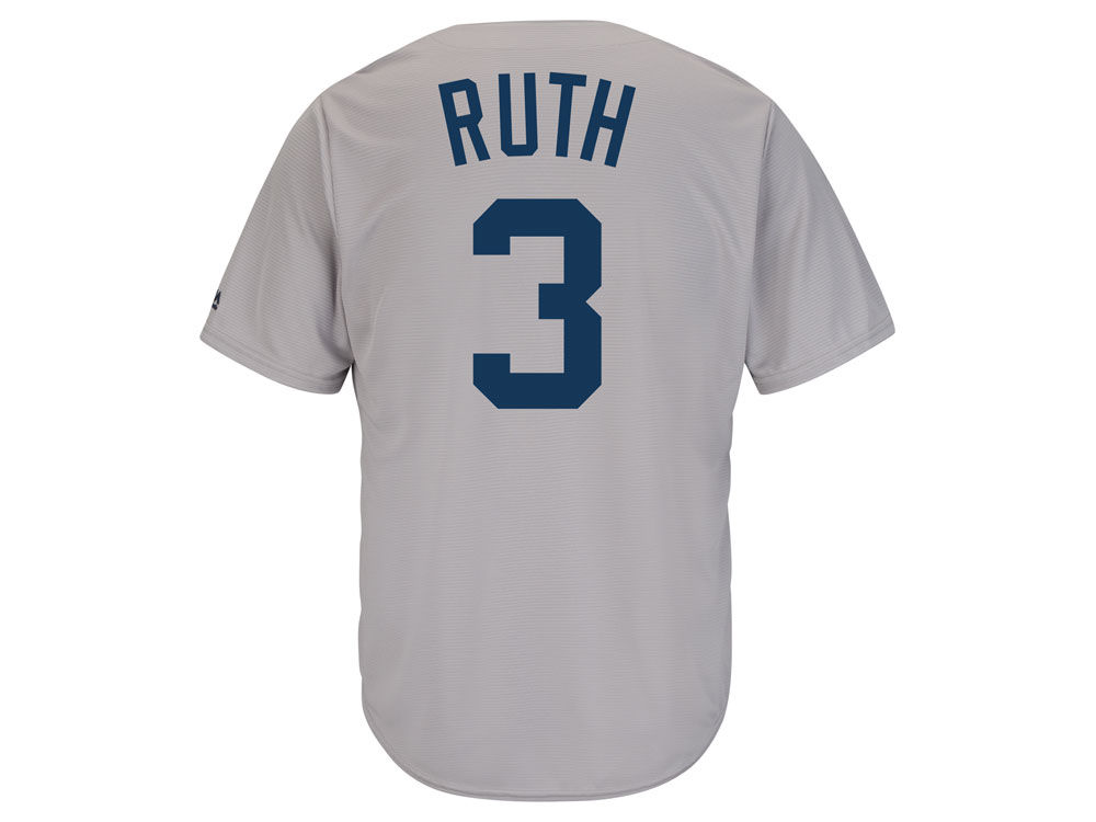 New York Yankees Babe Ruth Majestic MLB Men s Cooperstown Player Replica CB  Jersey  33f41bcaf06