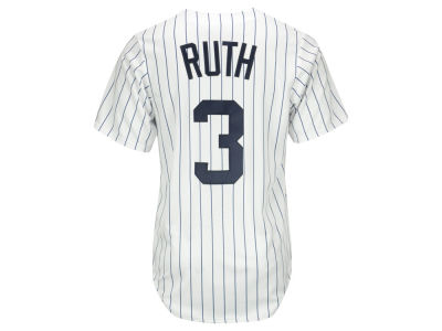 New York Yankees Babe Ruth Majestic MLB Men's Cooperstown Player Replica CB Jersey