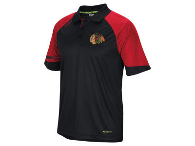 Chicago Blackhawks Reebok NHL Men's Center Ice Polo Shirt