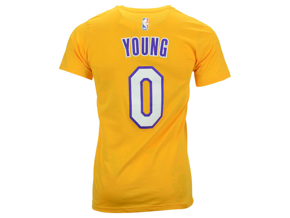 ... new zealand los angeles lakers nick young adidas nba mens player t shirt  ce9b1 534ac f3f50ea3a