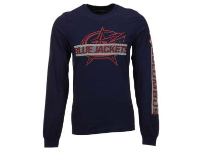 Columbus Blue Jackets Reebok NHL Men's Lineup Long Sleeve T-Shirt