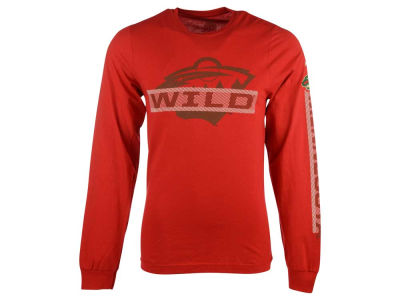Minnesota Wild Reebok NHL Men's Lineup Long Sleeve T-Shirt