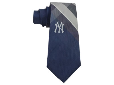 New York Yankees Woven Poly Grid Tie
