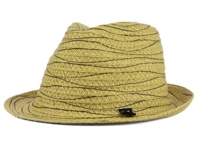 Block Headwear Pop Stitch Straw Fedora
