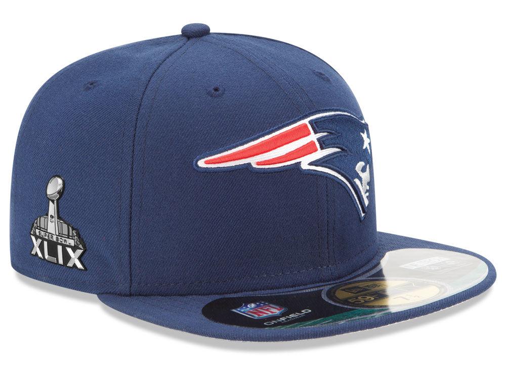 f7fd30366 New England Patriots New Era NFL Super Bowl XLIX On Field Patch 59FIFTY Cap