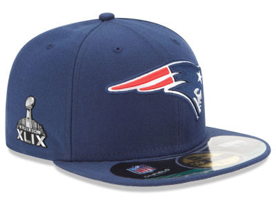 New England Patriots New Era NFL Super Bowl XLIX Youth On Field Patch 59FIFTY Cap
