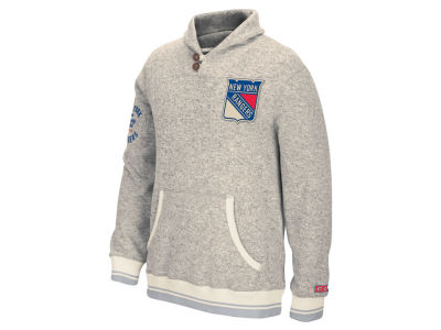 New York Rangers Reebok NHL Men's Shawl Popover Sweater