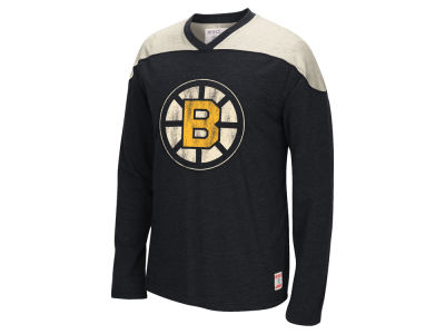 Boston Bruins Reebok NHL Men's Applique Long Sleeve T-Shirt