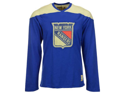 New York Rangers Reebok NHL Men's Applique Long Sleeve T-Shirt