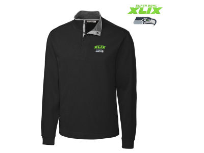 Seattle Seahawks NFL Men's Super Bowl XLIX Fulltime Snap Placket Pullover Shirt