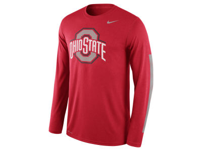 Ohio State Buckeyes Nike NCAA Men's Legend DNA Wordmark Long Sleeve T-Shirt