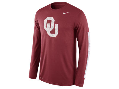 Oklahoma Sooners Nike NCAA Men's Legend DNA Wordmark Long Sleeve T-Shirt