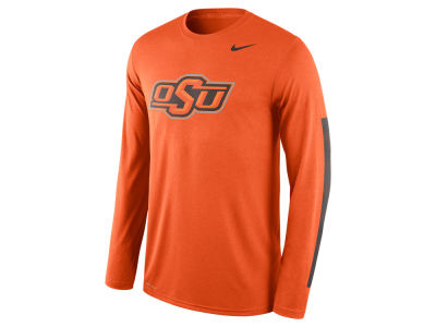 Oklahoma State Cowboys Nike NCAA Men's Legend DNA Wordmark Long Sleeve T-Shirt