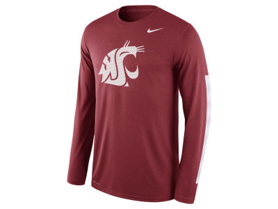Washington State Cougars Nike NCAA Men's Legend DNA Wordmark Long Sleeve T-Shirt