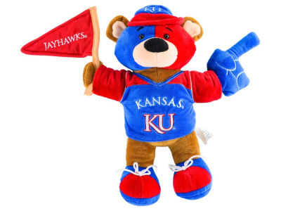 Kansas Jayhawks 10inch Fan Bear