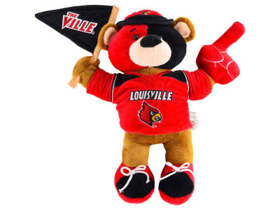 Louisville Cardinals 10inch Fan Bear