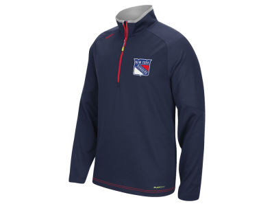 New York Rangers Reebok NHL Men's Center Ice 1/4 Zip Pullover